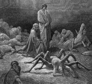 Arachné au Purgatoire - Gustave Doré