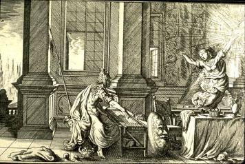 J.W. Baur - Arachné et Minerve - Métamorphose - 17ème siècle