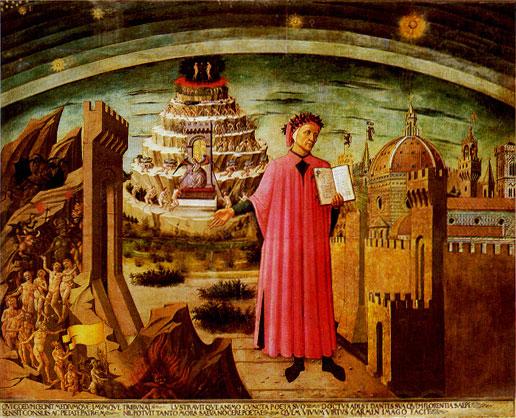 Domenico di Michelino - Dante et son poème - XVème