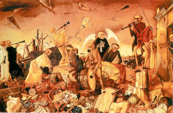 Felix Nussbaum - Les squelettes jouent pour la danse 1944