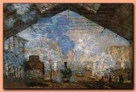 Claude Monet - Gare Saint Lazare 1877