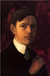 August Macke - Autoportrait
