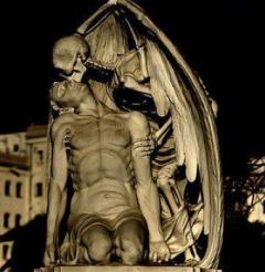 Baiser de la mort - Joan Fontbernat, cimetière de Poblenou à Barcelone