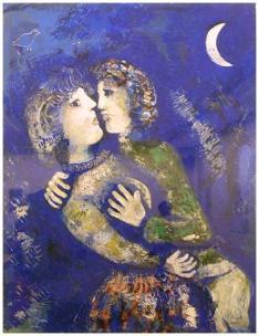 Chagall 1926 - Les amoureux à la demi-lune - StedelijkMuseum-Amsterdam