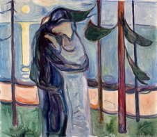 Edvard Munch - Baiser sur la plage, 1921