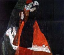 Egon Schiele - Cardinal et religieuse (caresse) 1912