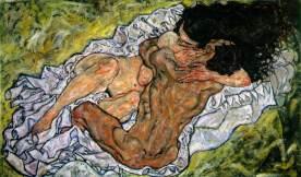 Egon Schiele - L'étreinte 1917