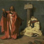 Anonyme - Jésus et la femme adultère 19ème (Bordeaux)