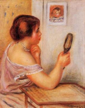 Auguste Renoir - Gabrielle tenant un miroir 1905