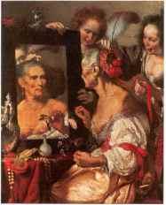 Bernardo Strozzi - Allégorie de la vanité 1635