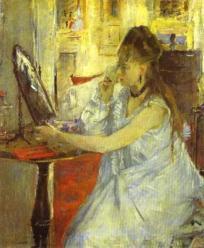 Berthe Morisot - Femme se poudrant 1877