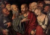 Cranach le Jeune - Christ et la femme adultère