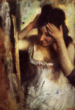 Degas - Femme se peignant - vers 1883