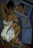 Ernst Ludwig Kirchner - La toilette - Femme au miroir 1913