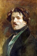 Eugene Delacroix - Autoportrait au gilet vert 1837