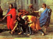 Christ et la femme adultère - Nicolas Poussin (détail)