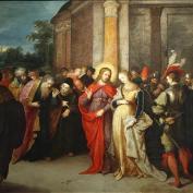Frans Francken - Jésus et la femme adultère 17ème