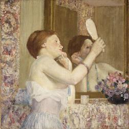 Frederick Carl Frieseke - Femme au miroir 1911