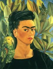 Frida Kahlo - Autoportrait avec Bonito-1941