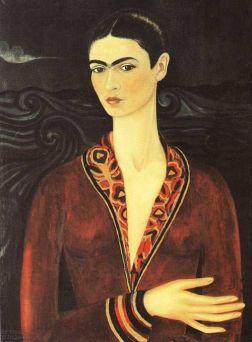 Frida Kahlo - Autoportrait en robe de velours 1926
