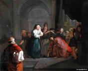 Gabriel Metsu - Jésus et la femme adultère 1653 (Louvre)