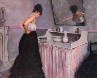 Gustave Caillebotte - Femme à sa toilette 1873