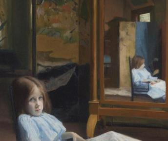 Jacques Emile Blanche - Jeune fille devant la psyché 1889