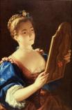 Jean Raoux - Jeune femme au miroir