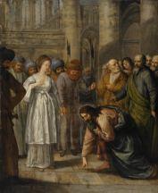 Jésus et la femme adultère - Quirijnsz van der Maes 1630