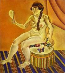 Juan Miro - Nu au miroir 1919