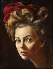 Leonor Fini - Autoportrait au turban rouge 1938