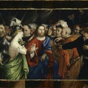 Lorenzo Lotto - Christ et la femme adultère vers 1530