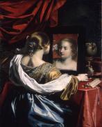 Niccolo Renieri (17ème) -Jeune fille au miroir