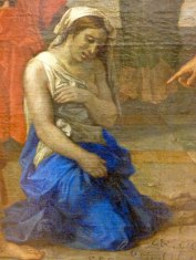 Nicolas Poussin - Christ et femme adultere-detail-1