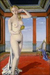 Paul Delvaux - Femme au miroir 1945