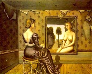 Paul Delvaux - Femme au miroir 2