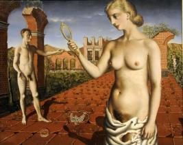 Paul Delvaux - Proposition Diurne (La Femme au Miroir) 1937