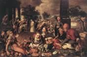 Pieter Aersten - Christ et la femme adultère 16ème
