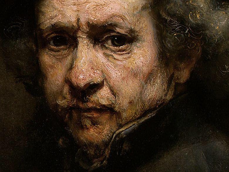 Rembrandt autoportrait 1660 perles d 39 orph e for Autoportrait miroir
