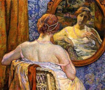 Théodore Van Rysselberghe - Femme au miroir - 1907