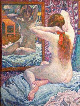 Théodore Van Rysselberghe - Le ruban écarlate - 1906