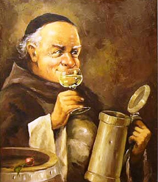 Moine buvant du vin - Marcello Bacciarelli (Fin XVIIIe)
