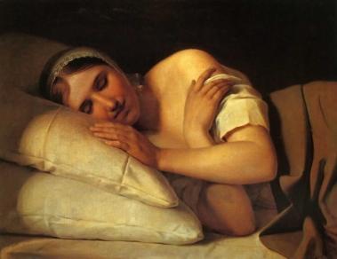 Alexey Venetsianov 1780-1847 - Fille endormie