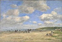 Eugène Boudin - Plage de Tourgeville 1893 (National Gallery London)