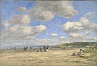 Eugène Boudin - Plage de Tourgeville 1893 (National Gallery London)