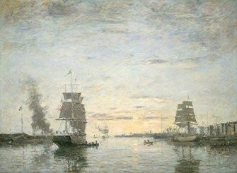 Eugène Boudin - Entrée du port du Havre 1883 (National Gallery of Arts Washington)jpg
