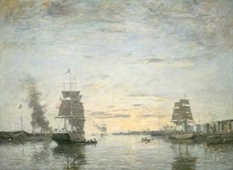 Eugène Boudin - Entrée du port du Havre 1883 (National Gallery of Arts Washington)jpg