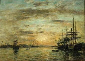 Eugène Boudin - Le bassin de l'Eure au Havre 1885 (Evreux)