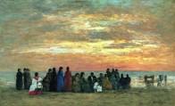 Eugène Boudin - Scène de plage à Trouville 1869