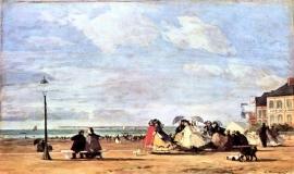 Eugène Boudin - Trouville 1863 (Glasgow)
